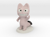 The Pink Cat, Le Chat Rose, N°4 3d printed