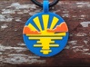 'Sunrise and Morning Clouds' Pendant in Sandstone 3d printed