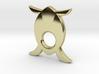 LOVE TURTLE (Pendant or Earring) 3d printed