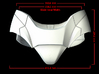 Iron Man Pelvis Armor, Bottom (Part 3 of 5) 3d printed CG Render (Front Measurements)