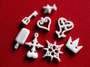 Kingdom Hearts charms 3d printed