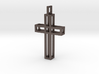 Boxed Cross Pendant 3d printed