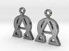 Alpha Omega Earrings 3d printed