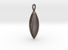 Elliptical Slotted Pendant 3d printed