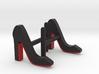 Red Sole Heel Cufflinks 3d printed