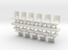 Barstools x11 HO Scale 3d printed