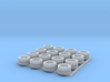 1:160 N Scale Dual Wheel/Tire Set for Trailers 3d printed