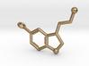 Serotonin 3D printed Steel Key Chain 3d printed