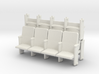 4 X 3 Theater Seats HO Scale 3d printed