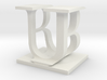 Two way letter / initial B&U 3d printed