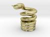 Snake Cigarette Stubber 3d printed Snake Cigarette Stubber in 18k gold