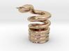 Snake Cigarette Stubber 3d printed Snake Cigarette Stubber in 14k rose gold