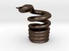Snake Cigarette Stubber 3d printed Snake Cigarette Stubber in polished bronze steel