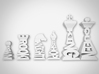 Typographical Chess Set 3d printed Rendering of design