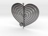 Heart Swap Spinner Flat - 15cm 3d printed