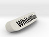 WhiteWidow`Nameplate for SteelSeries Rival 3d printed