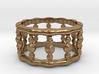 Designer COLUMN RING in Silver    Gold    Steel 3d printed