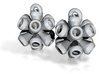 subatomic eucalyptium earrings 3d printed