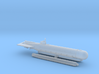 """Submarine Type """"Molch"""" 1/285 6mm 3d printed"""