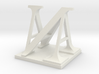 Two way letter / initial A&N 3d printed