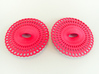 Curvy Hoop Earrings 50mm 3d printed Curvy Hoop Earrings 50mm printen in Pink Strong & Flexible