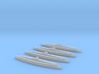 U-505 (Type IXC U-Boat) 1:1800 x4 3d printed