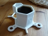 Espresso saucer 3d printed This photo shows the saucer with the espresso cup which is a separate model.