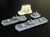 Military & Sailing ships (4 pcs) 3d printed Hand-painted ships, White Strong Flexible.