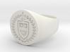 StCyr Crest Ring - Circular - Size 10 3d printed