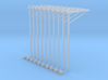 Catenary (10 set) Dutch style 1 track (1:160) 3d printed