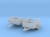 Small Trailers S Scale 3d printed