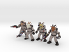 Ghoatbusters, Set of All Four (Sandstone) 3d printed