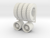 "1:64 22.5"" Dayton Rear wheels & 22.5"" Gripper tire 3d printed"