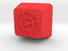 Cherry MX Crosshair Keycap 3d printed Custom Cherry MX Crosshair Keycap in Red Strong & Flexible Plastic