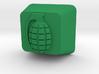 Cherry MX Grenade Keycap 3d printed Custom Cherry MX Grenade Keycap in GreenStrong & Flexible plastic