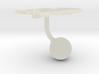 Netherlands Terrain Cufflink - Ball 3d printed