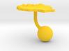 Romania Terrain Cufflink - Ball 3d printed