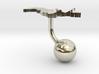 Uzbekistan Terrain Cufflink - Ball 3d printed
