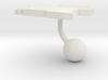 Angola Terrain Cufflink - Ball 3d printed
