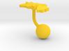Armenia Terrain Cufflink - Ball 3d printed