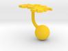 Costa Rica Terrain Cufflink - Ball 3d printed