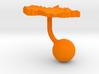 Czech Republic Terrain Cufflink - Ball 3d printed