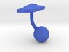 Dominica Terrain Cufflink - Ball 3d printed