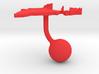 India Terrain Cufflink - Ball 3d printed