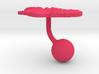 Iceland Terrain Cufflink - Ball 3d printed