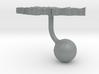 Kyrgyzstan Terrain Cufflink - Ball 3d printed
