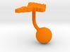 Moldova Terrain Cufflink - Ball 3d printed