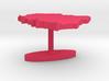 Poland Terrain Cufflink - Flat 3d printed