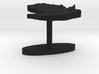 Paraguay Terrain Cufflink - Flat 3d printed