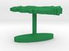 Turkey Terrain Cufflink - Flat 3d printed